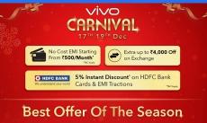 Flipkart's VIVO Carnival Sale 2018 : 15th – 17th Dec