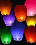 Sky Lanterns / Fire Balloon,Hot Air Balloon or Wishing Lanterns for Diwali, Christmas, Birthday Safe&Easy