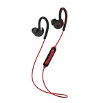 PTron Sportster Wireless Bluetooth Headset (Red, Black, in Ear)