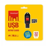 Strontium 32GB USB and 32GB Nitro MicroSD 85MBPS pack of 2
