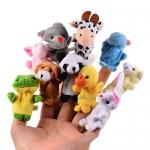 Toyshine Animal Finger Puppet, Multi Color. Pack of 10