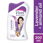 Vivel Body Wash, Lavender and Almond Oil, 200 ml